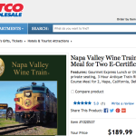 2016 Napa Valley Wine Train Costco discount – worth it?